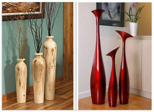 Напольные вазы высокие для цветов