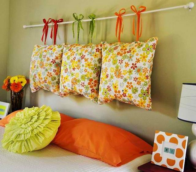 Оформить подушку своими руками