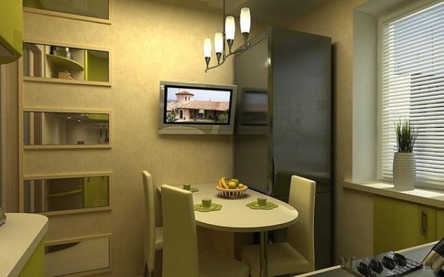 Телевизор на кухне хрущевки фото