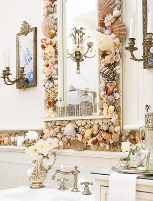 Элементы декора с ракушками