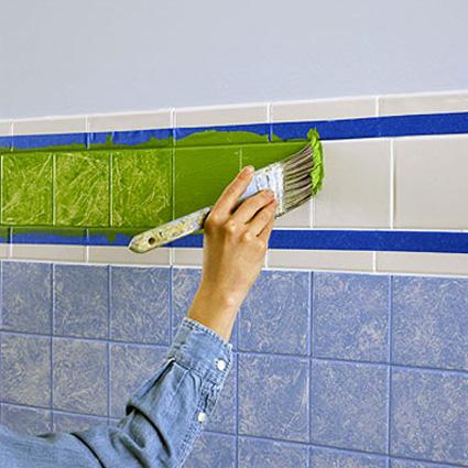 Реставрация старой плитки в ванной комнате своими руками