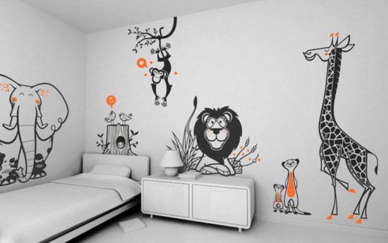 Простые рисунки на стенах в квартире своими руками фото