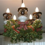 Новогодний декор люстры