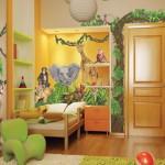 Детская комната в стиле джунглей